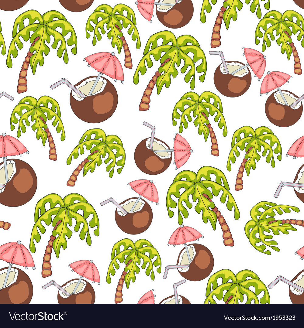 Summer endless seamless pattern vector | Price: 1 Credit (USD $1)