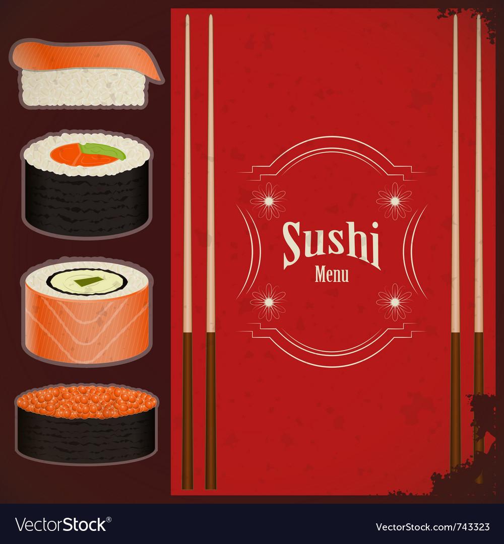 Vintage sushi menu vector | Price: 1 Credit (USD $1)