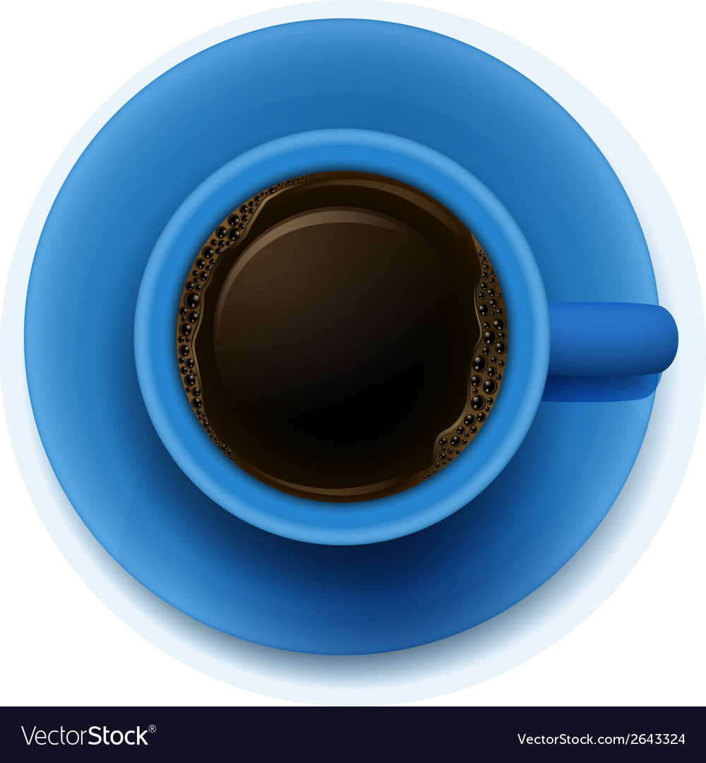 A blue cup with coffee vector | Price: 1 Credit (USD $1)
