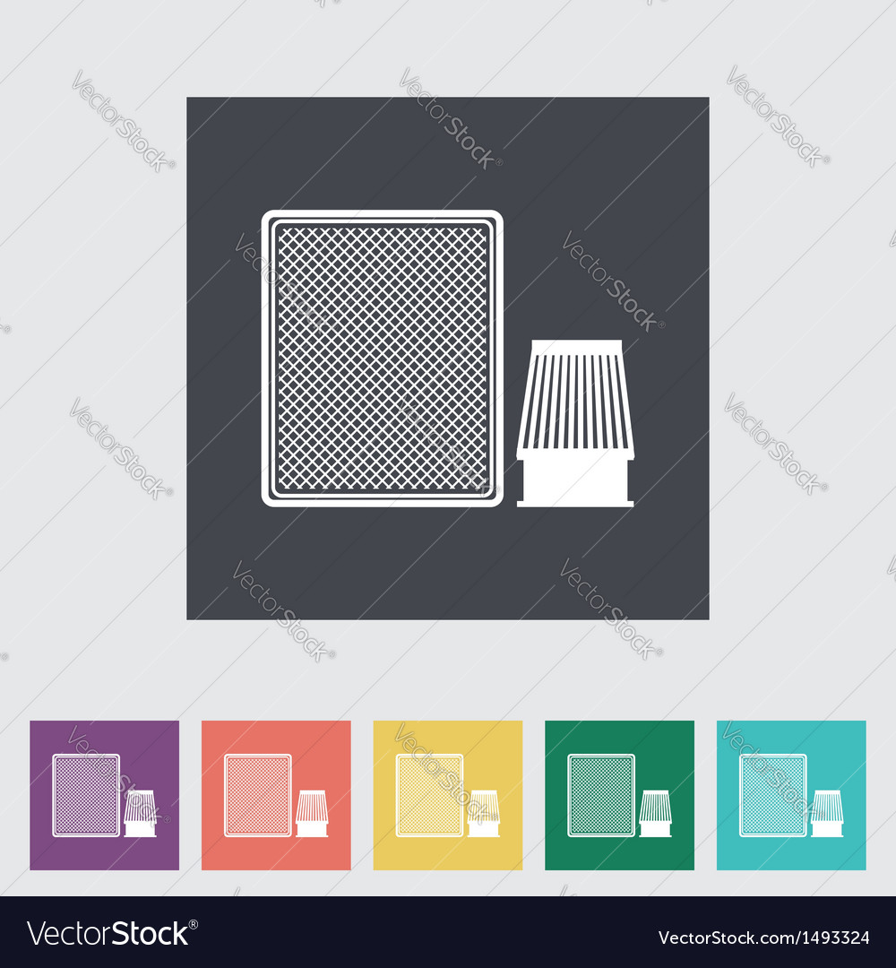 Automotive filter flat icon vector | Price: 1 Credit (USD $1)