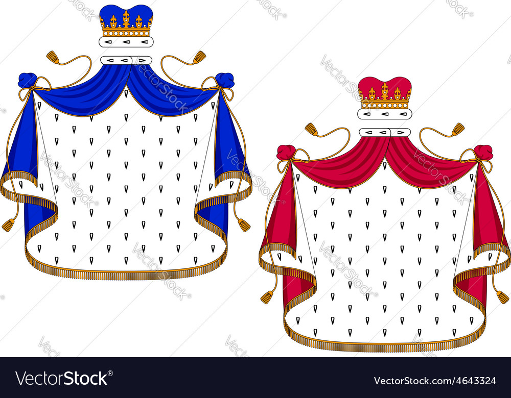 Blue and purple royal mantles vector | Price: 1 Credit (USD $1)