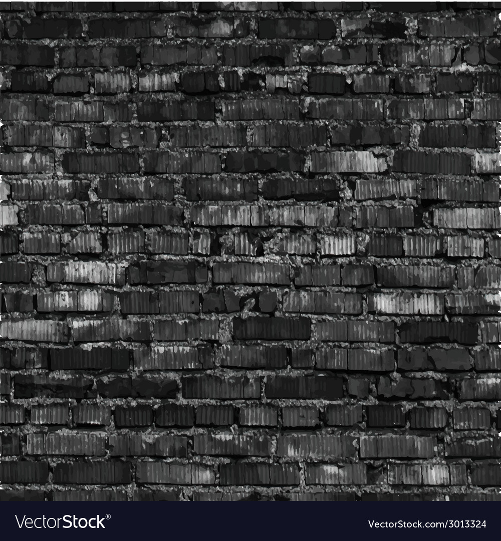 Brick wall black relief texture with shadow vector | Price: 1 Credit (USD $1)