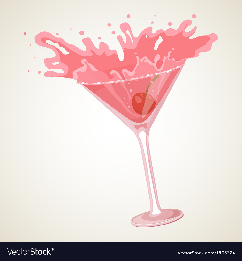 Cocktail with splash vector | Price: 1 Credit (USD $1)