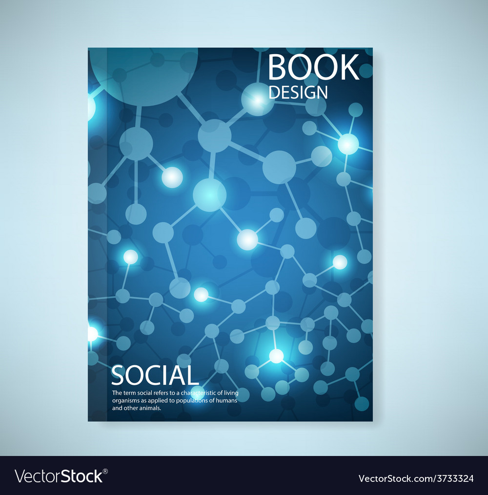 Cover report social network background with media vector | Price: 1 Credit (USD $1)