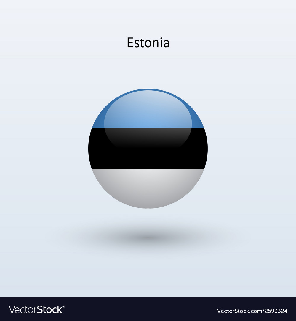 Estonia round flag vector | Price: 1 Credit (USD $1)