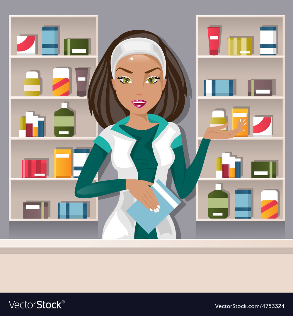 Female pharmacist vector | Price: 3 Credit (USD $3)