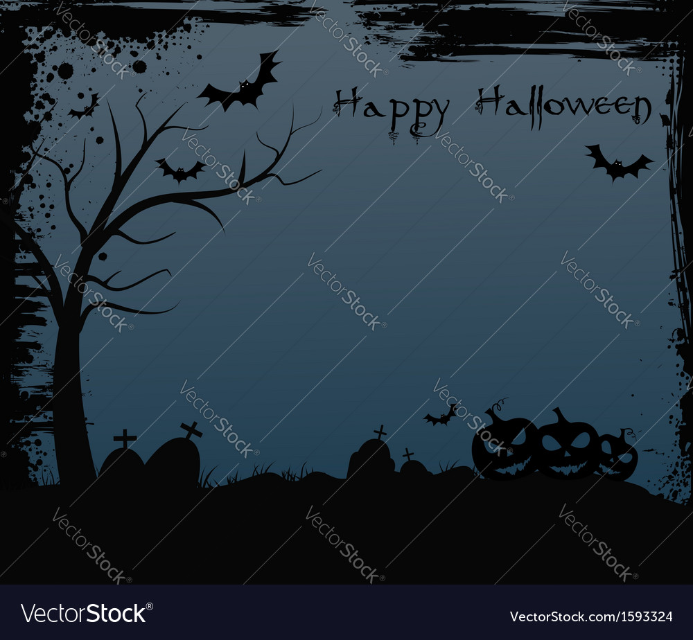 Halloween background with spooky tree vector | Price: 1 Credit (USD $1)