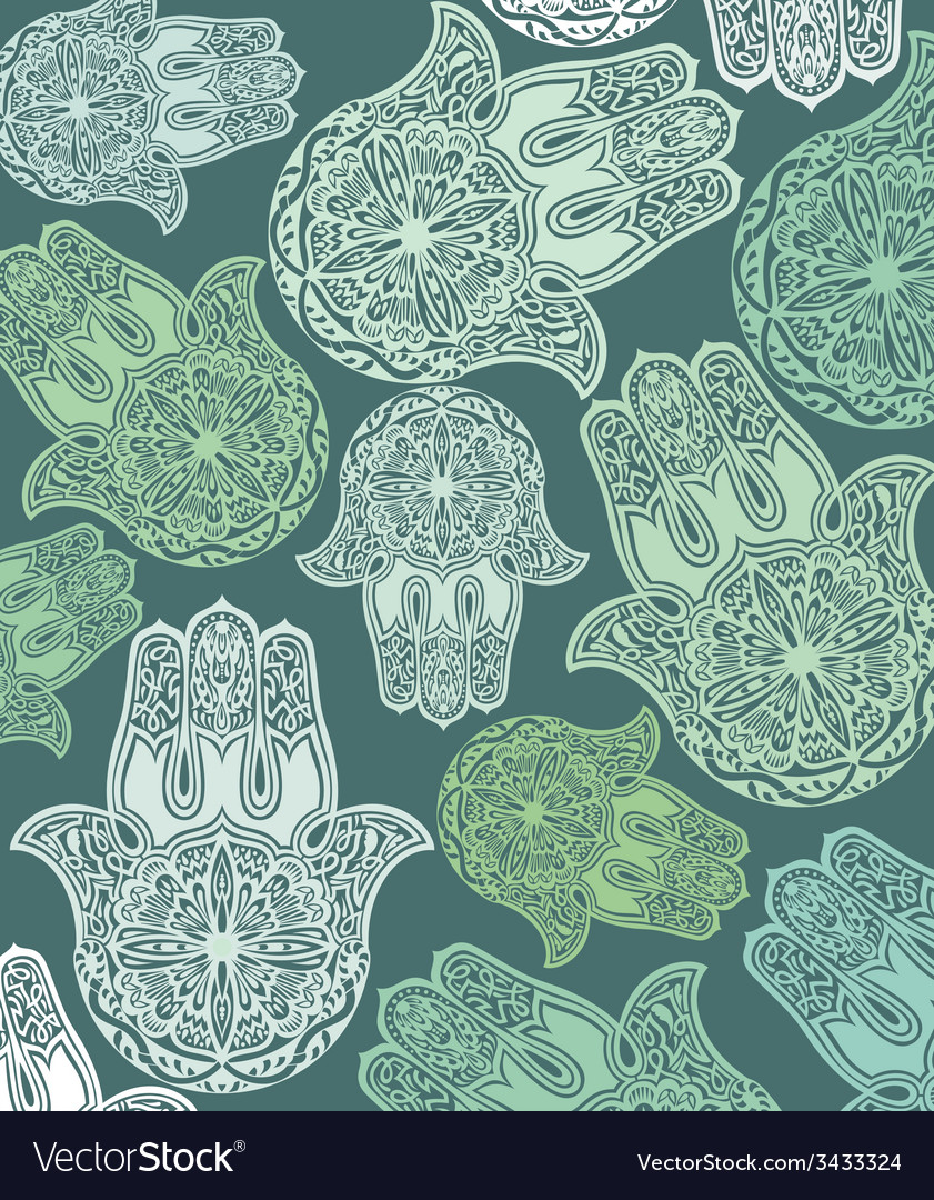 Hamsa pattern background vector | Price: 1 Credit (USD $1)