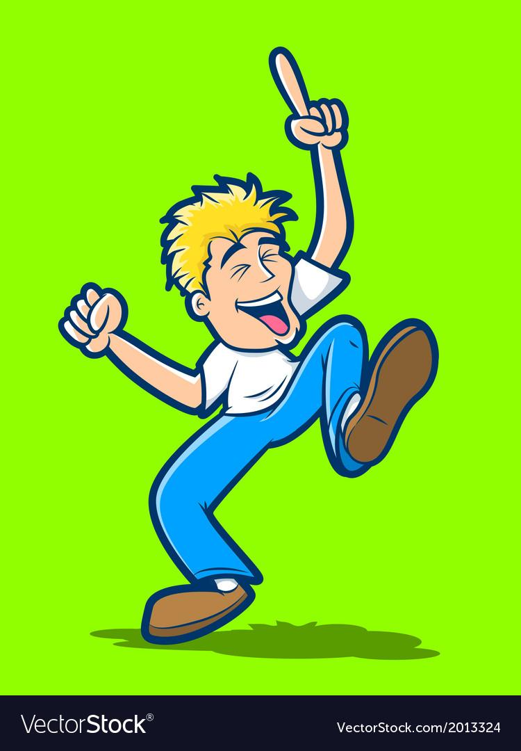 Happy man dancing vector | Price: 1 Credit (USD $1)