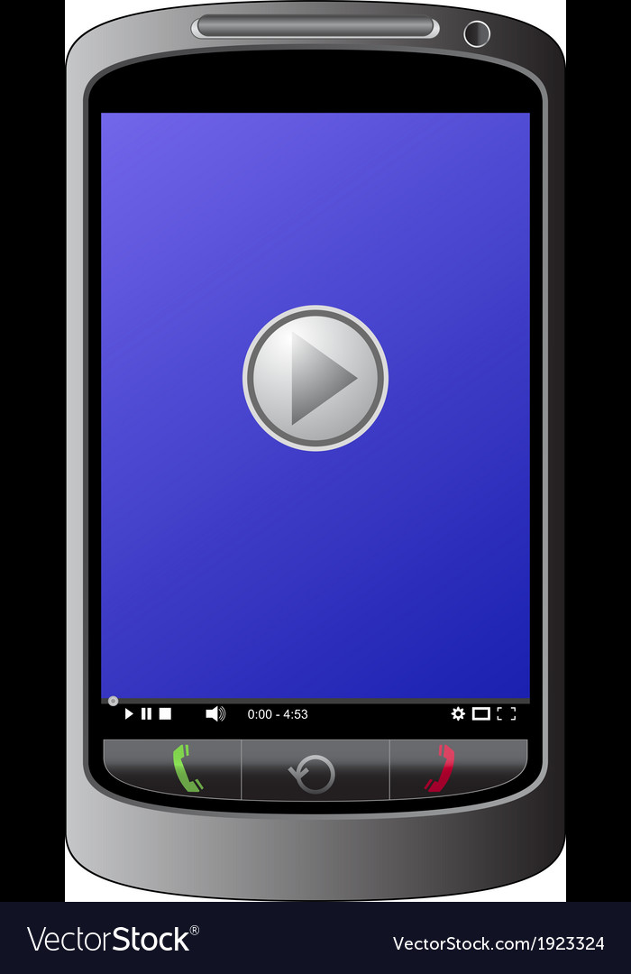 Mobile player vector | Price: 1 Credit (USD $1)