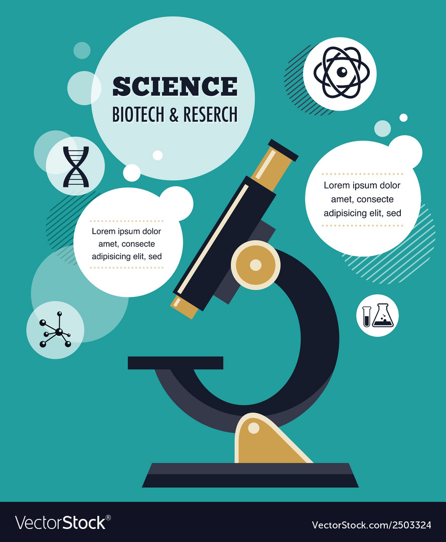 Research bio technology and science infographic vector | Price: 1 Credit (USD $1)