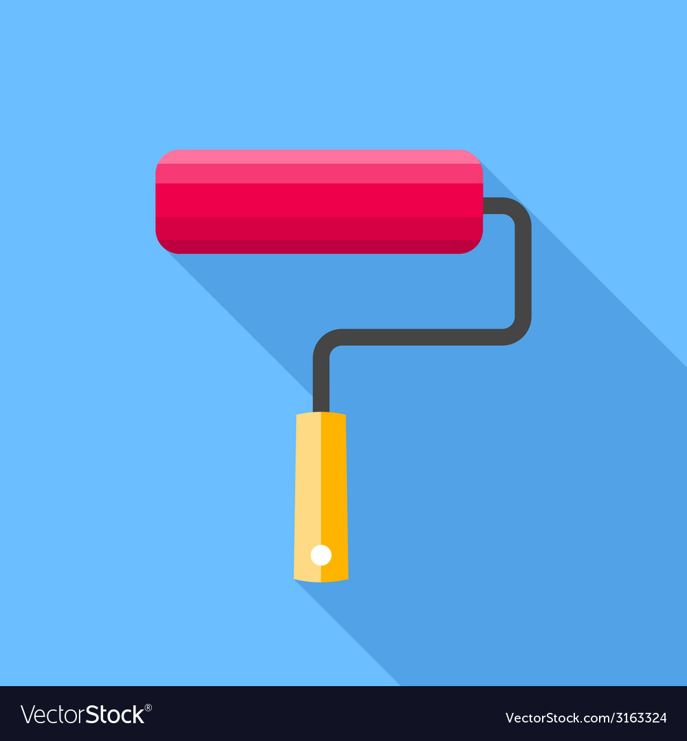 Roller brush vector | Price: 1 Credit (USD $1)