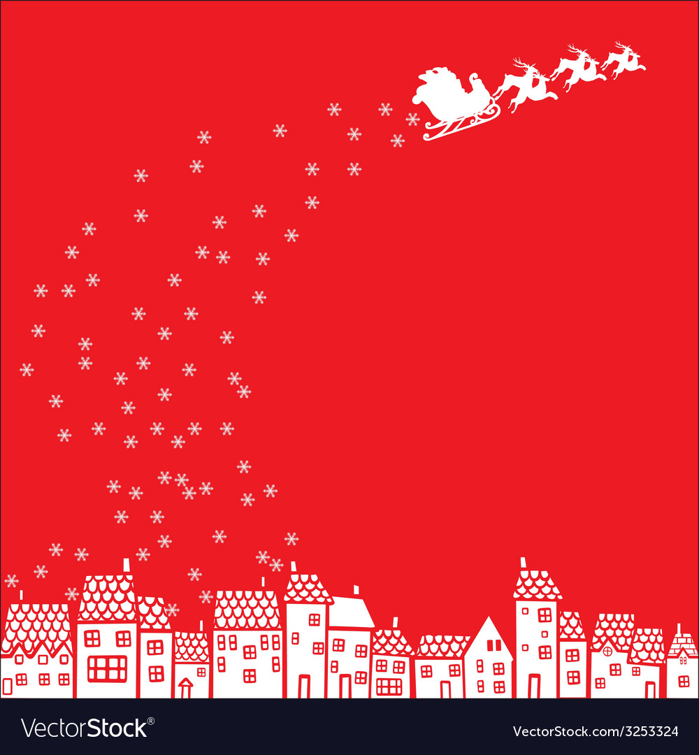 Santa claus over the city vector | Price: 1 Credit (USD $1)