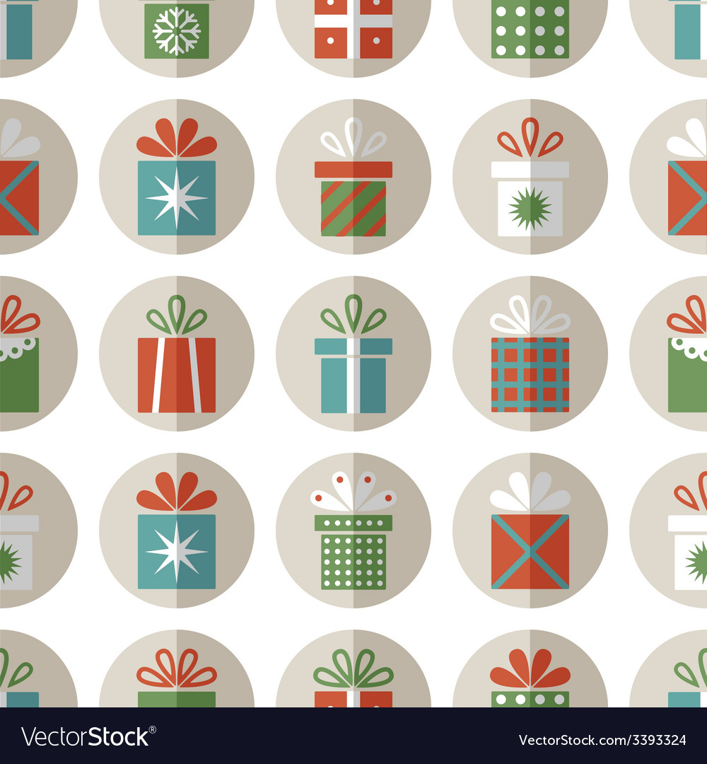 Seamless pattern of flat gift packages vector | Price: 1 Credit (USD $1)