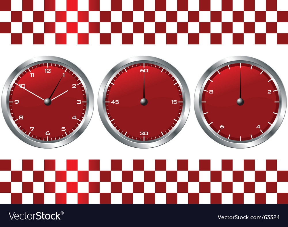 Time and checkered flag vector | Price: 1 Credit (USD $1)