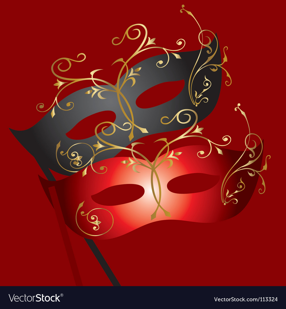 Theatrical mask vector | Price: 1 Credit (USD $1)