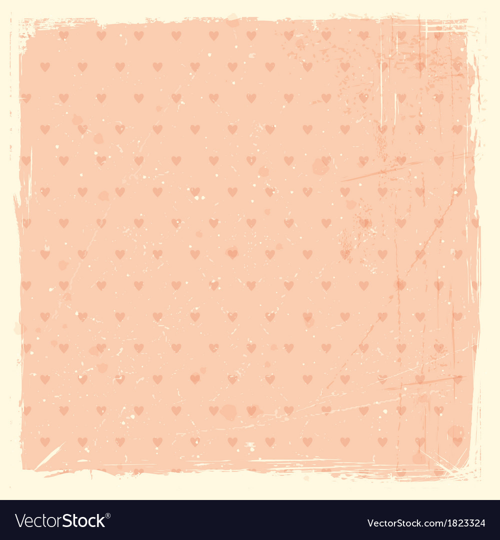 Whimsical texture grunge background with heart pat vector | Price: 1 Credit (USD $1)