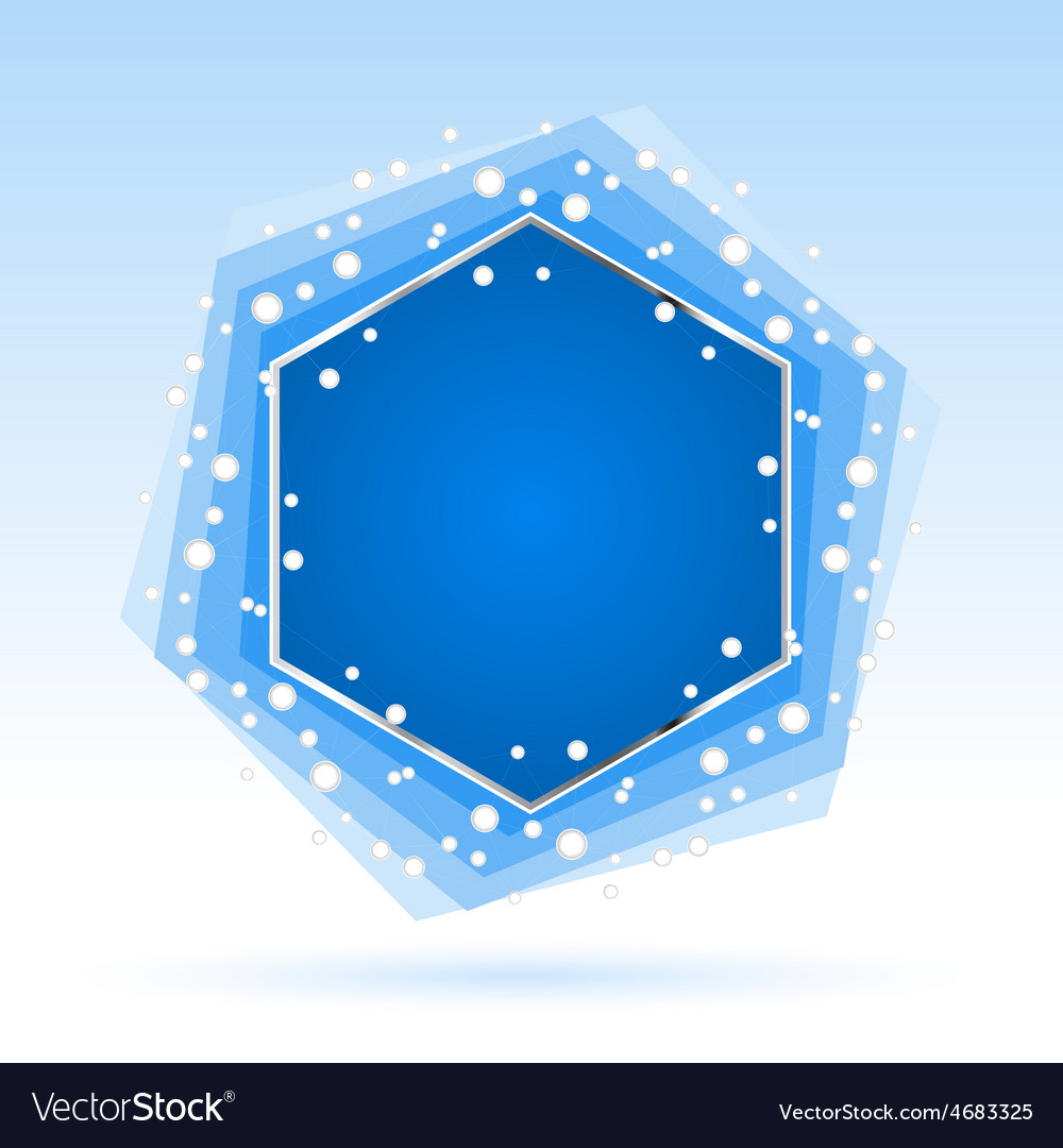 Abstract blue hexagon vector | Price: 1 Credit (USD $1)