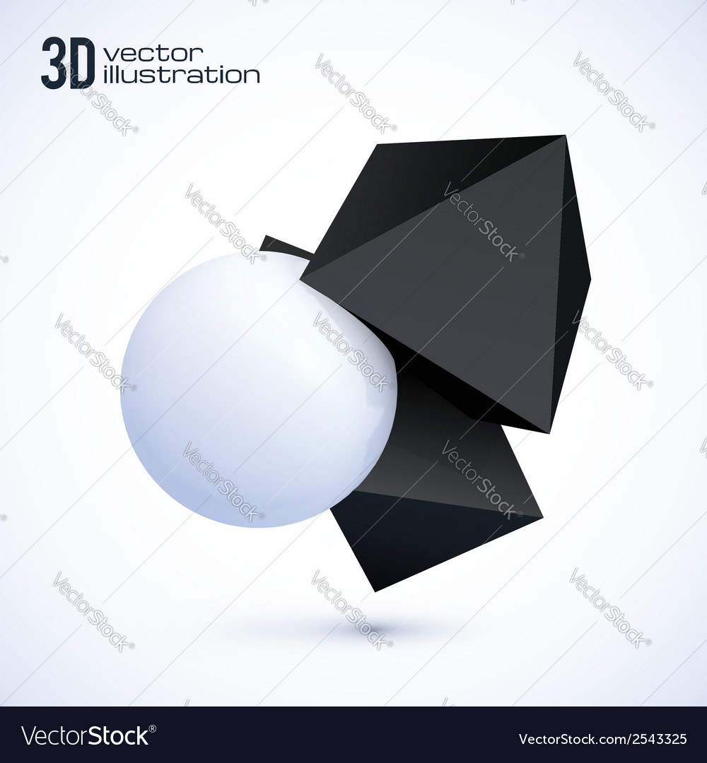 Black and white objects vector   Price: 1 Credit (USD $1)