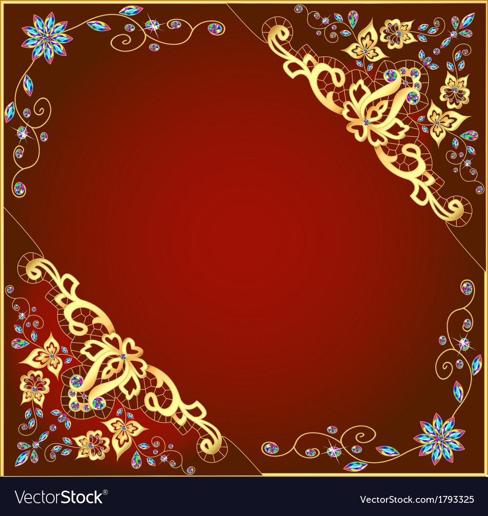 Brown background with gold ornament vector | Price: 1 Credit (USD $1)