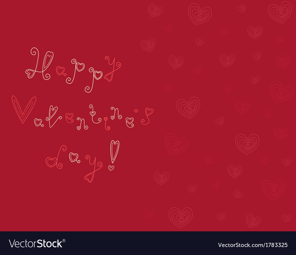 Card happy valentines day vector | Price: 1 Credit (USD $1)