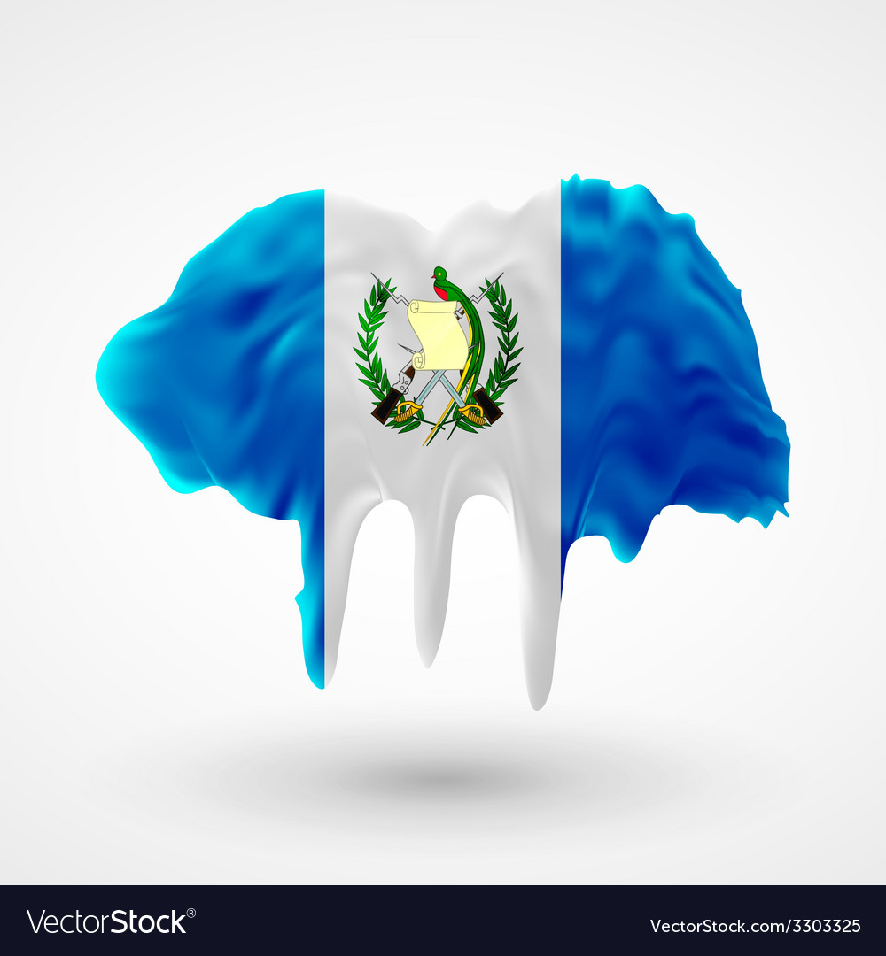 Flag of guatemala painted colors vector   Price: 1 Credit (USD $1)