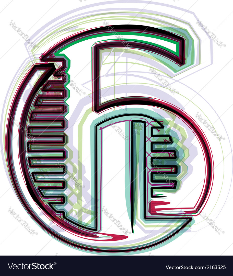 Font number 6 vector | Price: 1 Credit (USD $1)