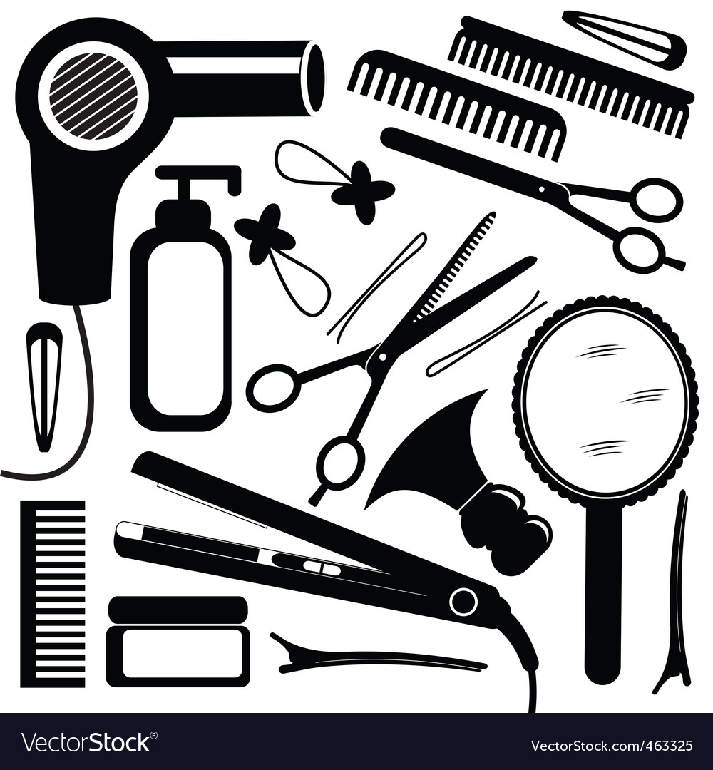 Hairdressing equipment vector | Price: 1 Credit (USD $1)