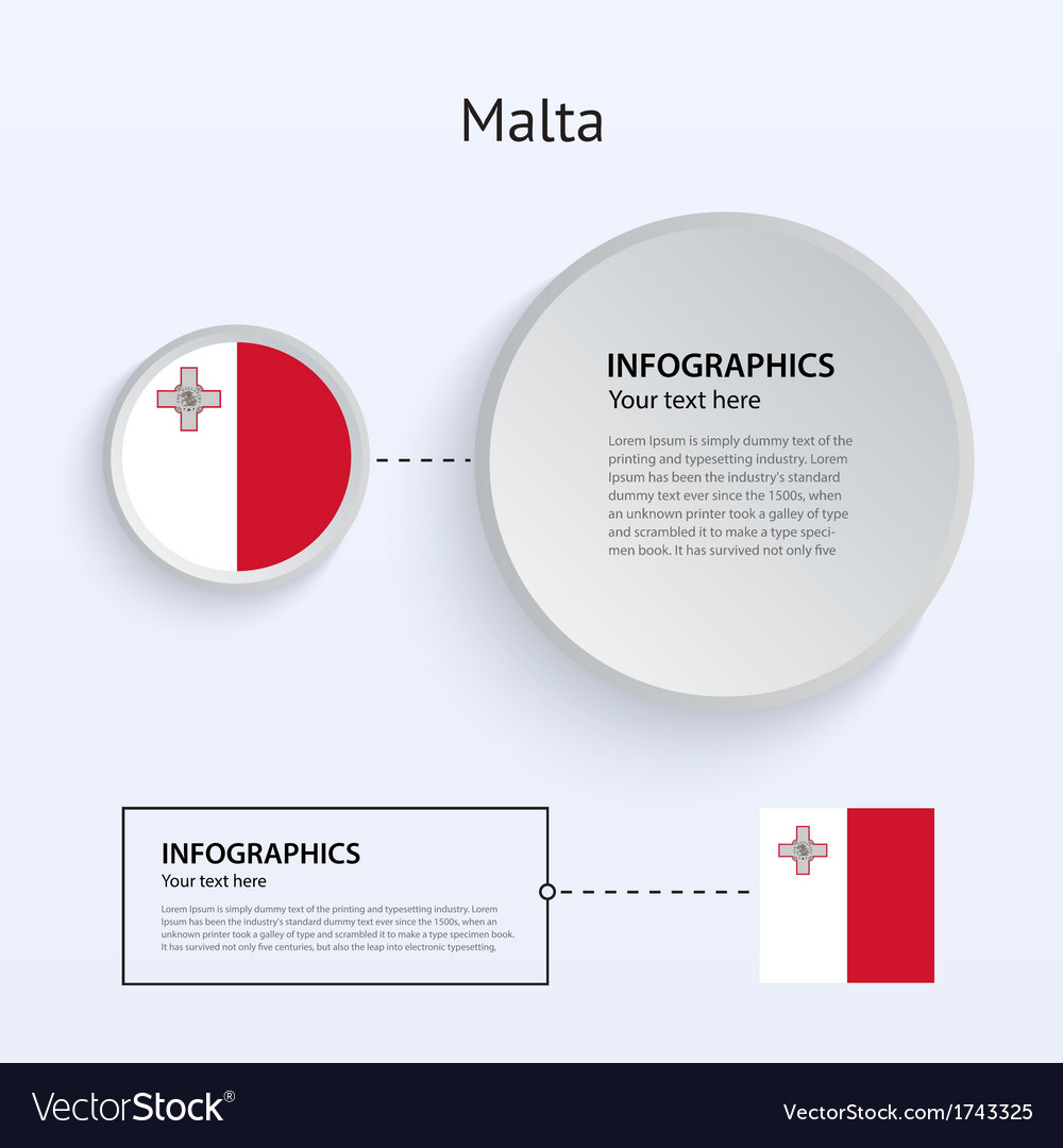 Malta country set of banners vector | Price: 1 Credit (USD $1)