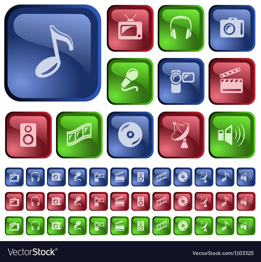 Multimedia buttons vector   Price: 1 Credit (USD $1)