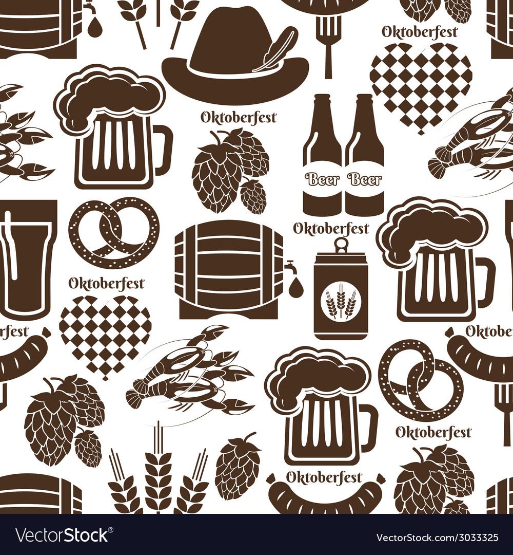 Oktoberfest seamless background pattern vector | Price: 1 Credit (USD $1)