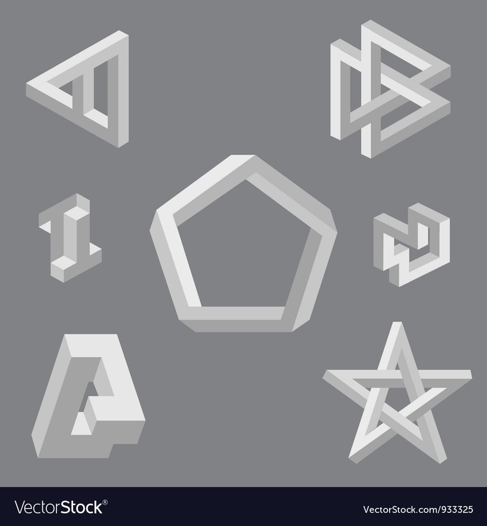 Optical symbols vector | Price: 1 Credit (USD $1)