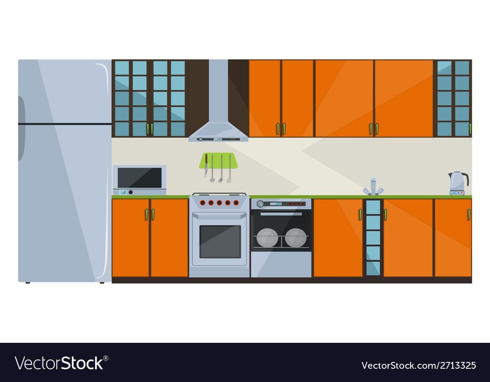 Orange kitchen vector | Price: 1 Credit (USD $1)