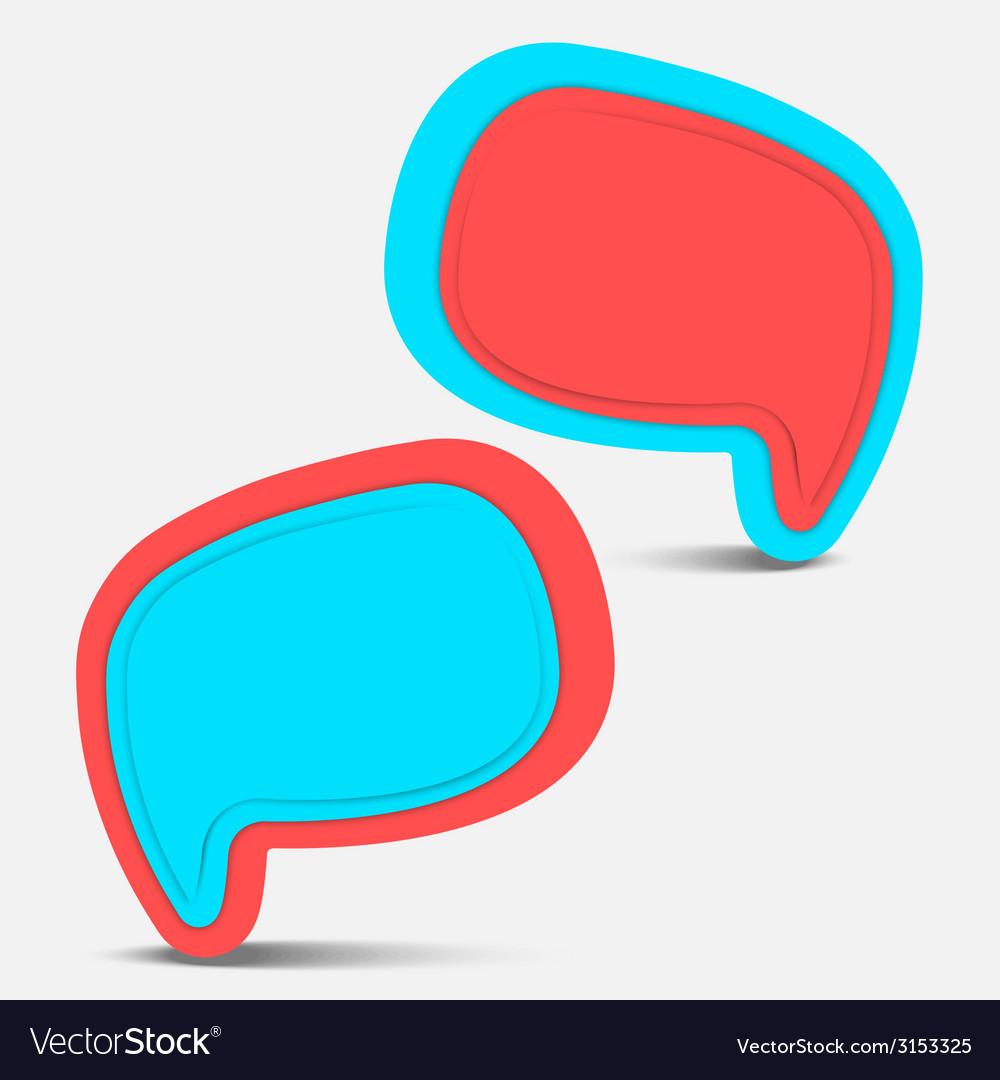 Speech bubble pop color vector | Price: 1 Credit (USD $1)
