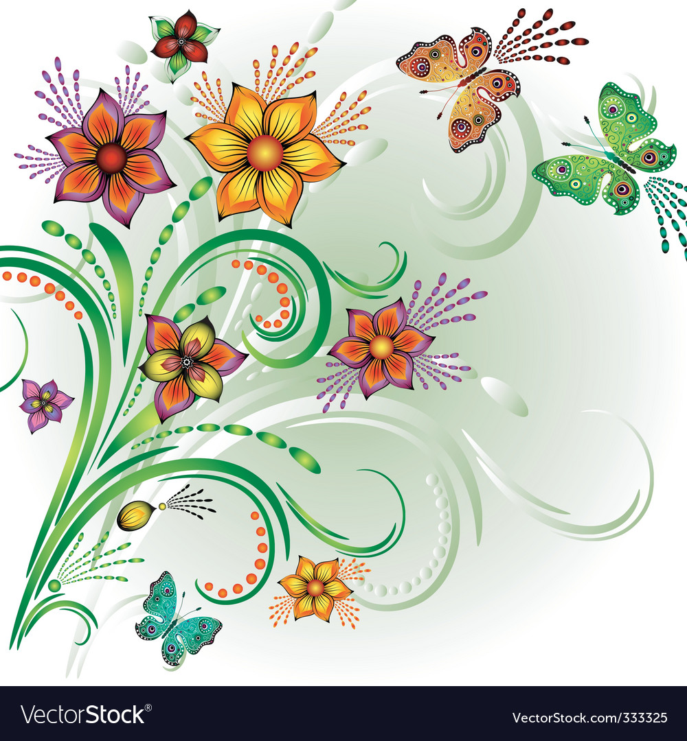 Spring bright background vector | Price: 1 Credit (USD $1)