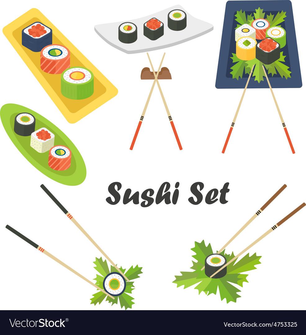 Sushi set vector | Price: 3 Credit (USD $3)