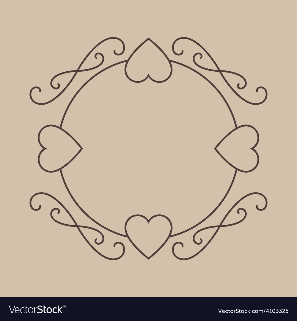 Valentines day decorative border with hearts vector | Price: 1 Credit (USD $1)