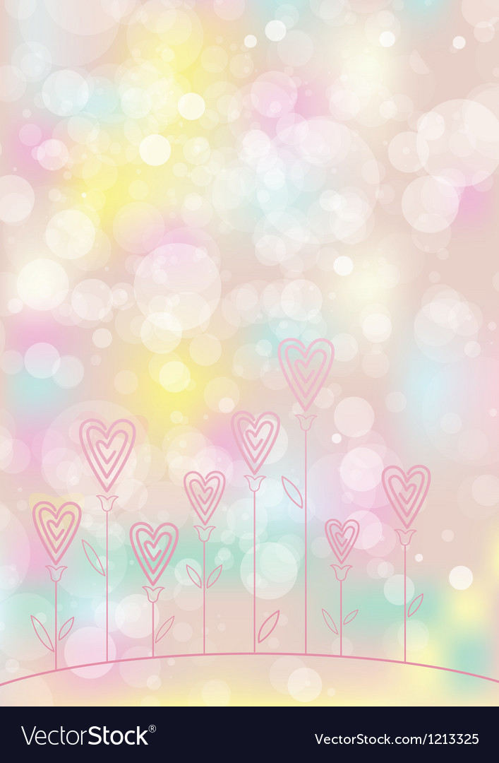 Valentines love flower background vector | Price: 1 Credit (USD $1)