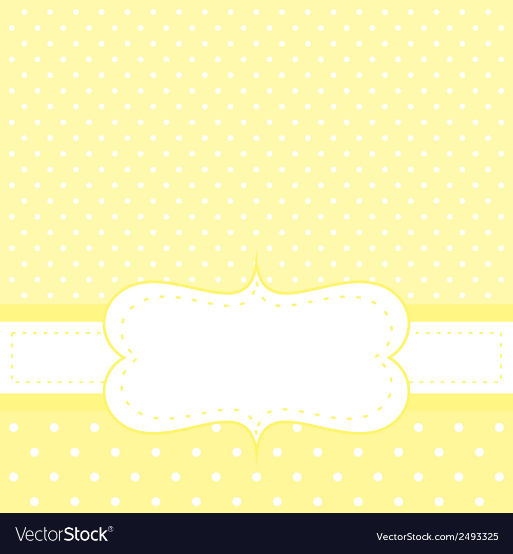 White dots on yellow background invitation vector | Price: 1 Credit (USD $1)