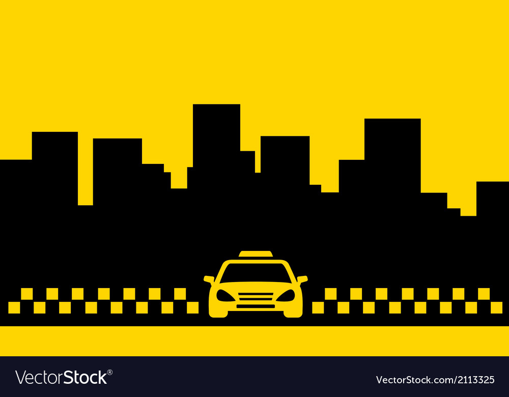 Yellow taxi backdrop transport background vector | Price: 1 Credit (USD $1)