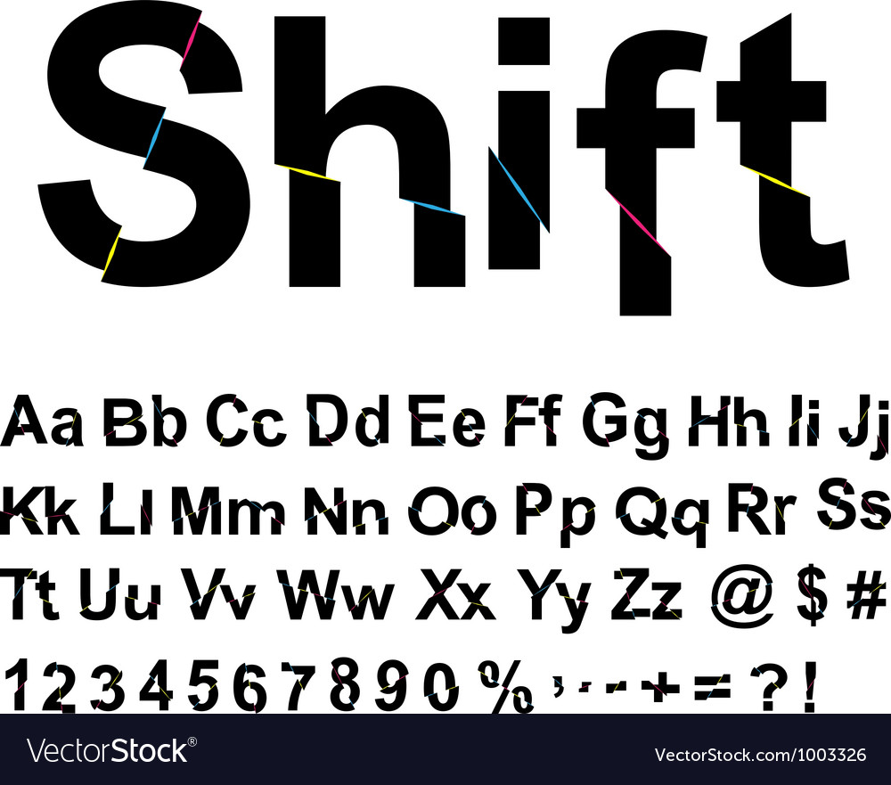 Abstract shift font vector | Price: 1 Credit (USD $1)