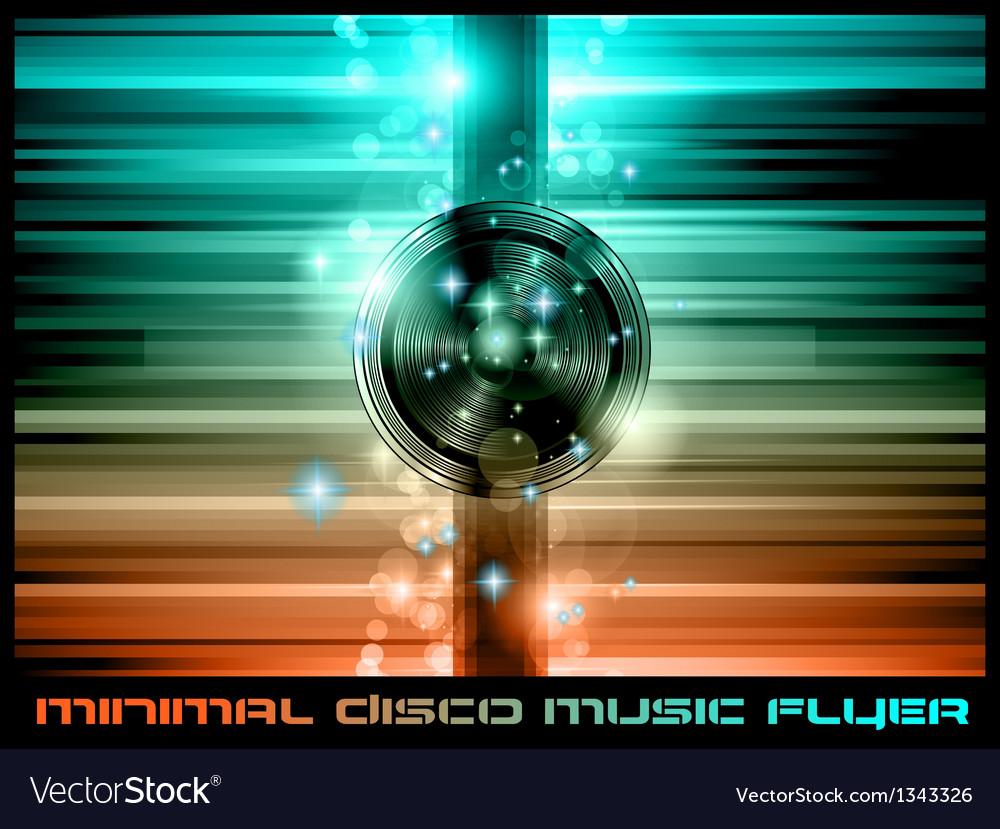 The art of disco flyer - vector | Price: 1 Credit (USD $1)
