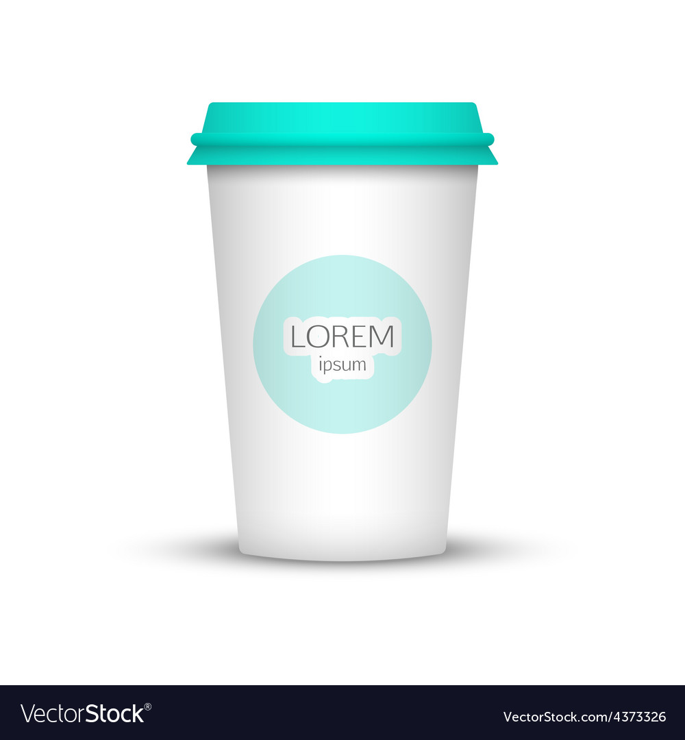Blank coffee cup to represent your desing vector | Price: 1 Credit (USD $1)