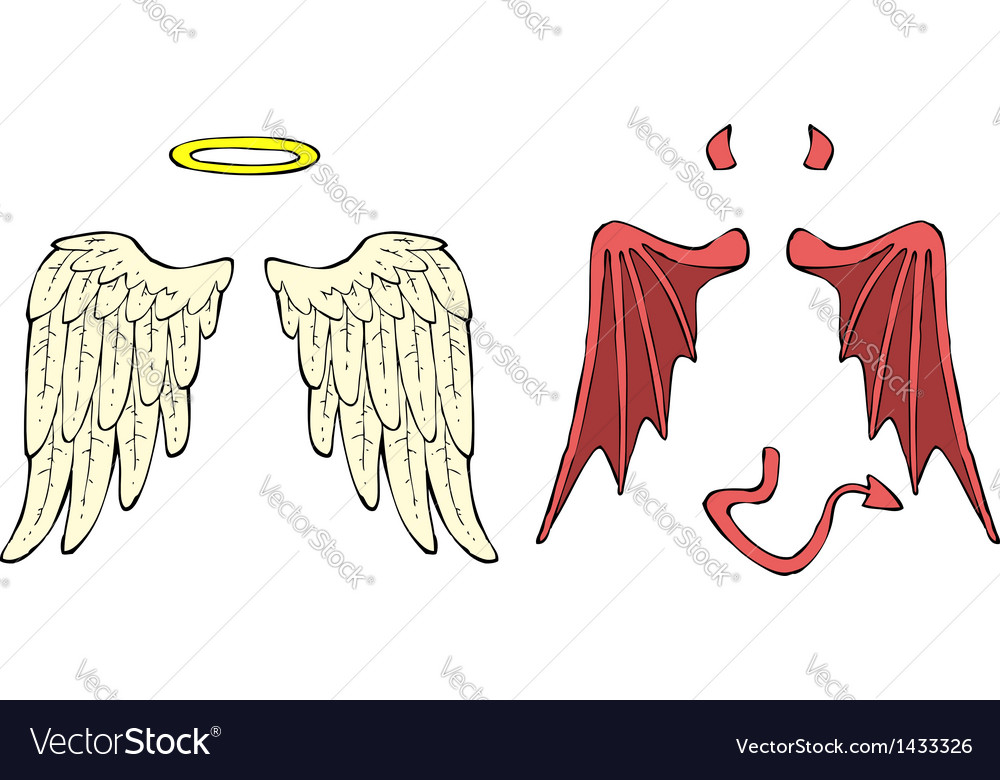 Cartoon wings vector | Price: 1 Credit (USD $1)