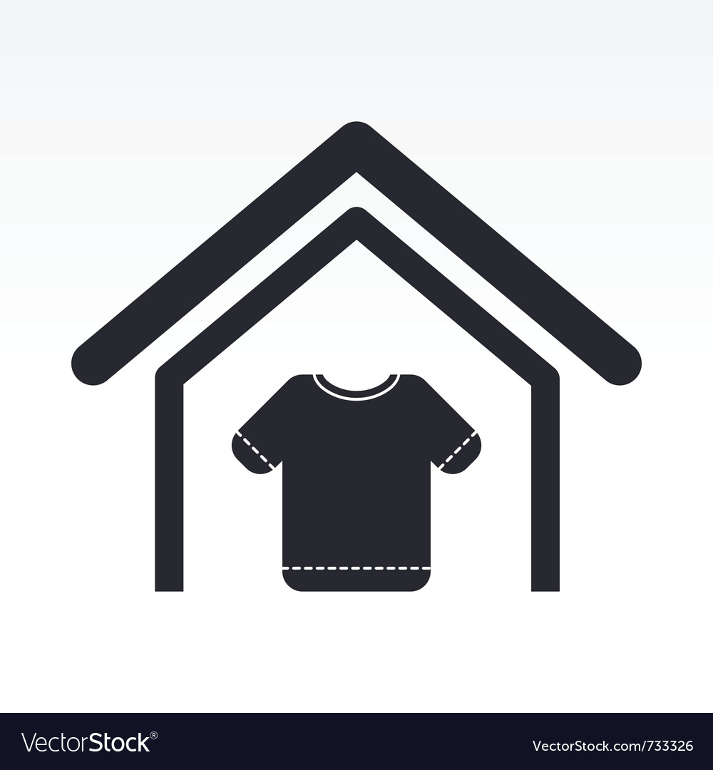 Clothing store icon vector | Price: 1 Credit (USD $1)