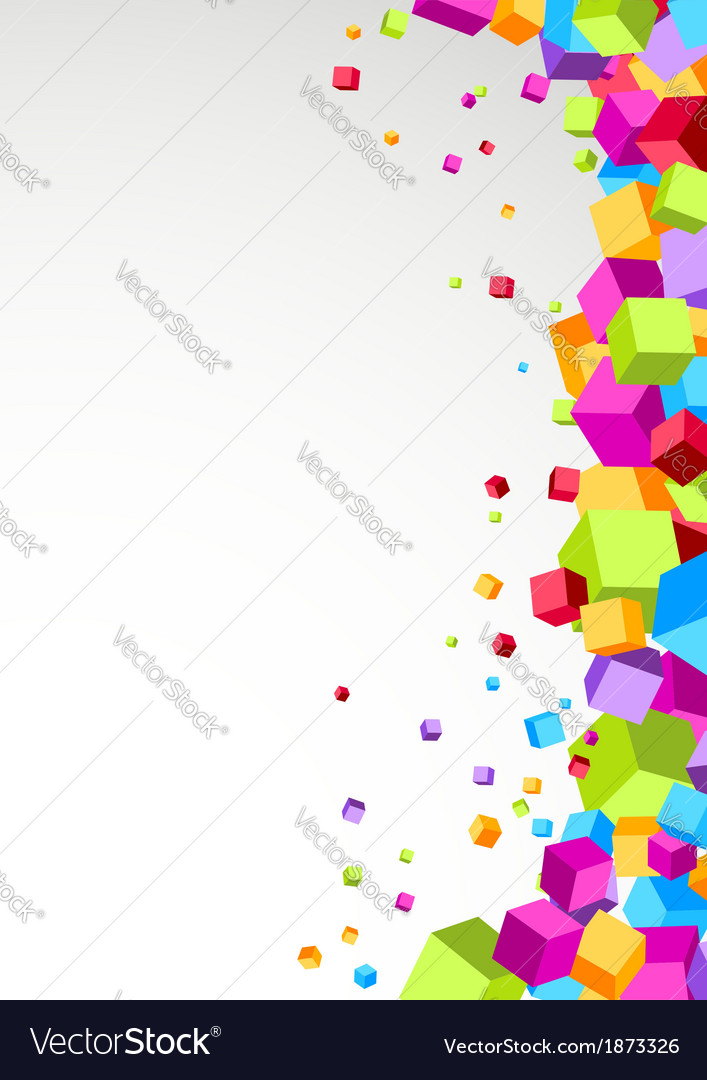 Colorful cubes aside - festive background vector | Price: 1 Credit (USD $1)
