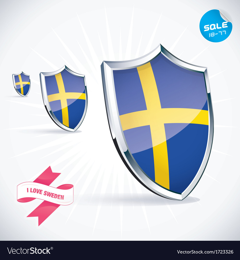 I love sweden flag vector | Price: 1 Credit (USD $1)