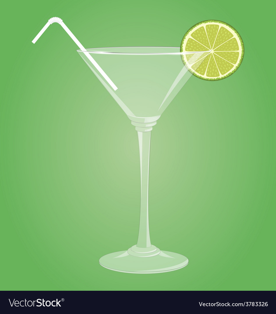 Martini glass with lime vector | Price: 1 Credit (USD $1)