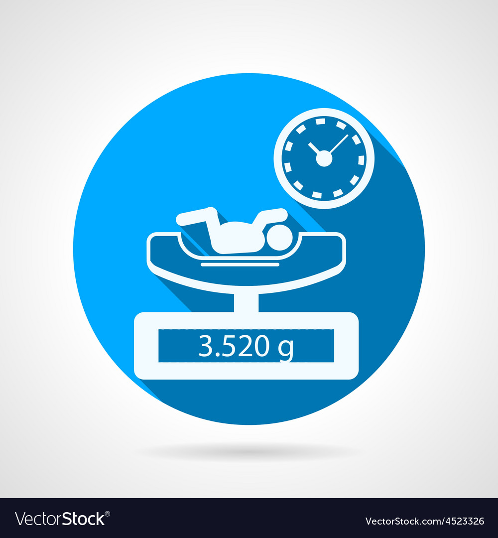 Newborn weighing blue icon vector | Price: 1 Credit (USD $1)
