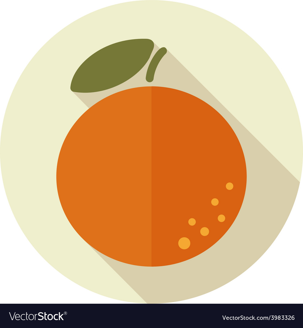 Orange flat icon with long shadow vector | Price: 1 Credit (USD $1)